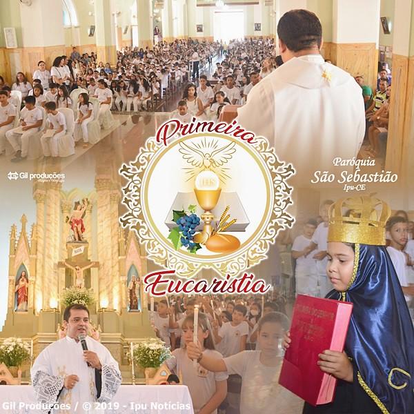 Paróquia São Sebastião de Ipu celebrou a solenidade de Nossa Senhora Aparecida e Primeira comunhão de 380 crianças