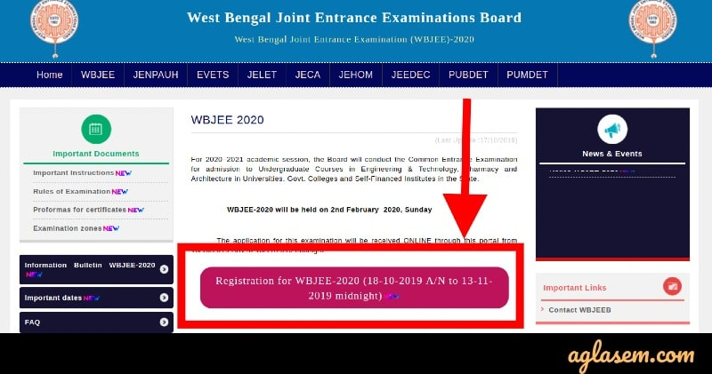WBJEE 2020 Application Form