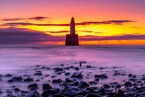rattrayhead lighthouse sunrise sunset aberdeenshire scotland landscape longexposure red sea sky sand beach water canon canon5d eos
