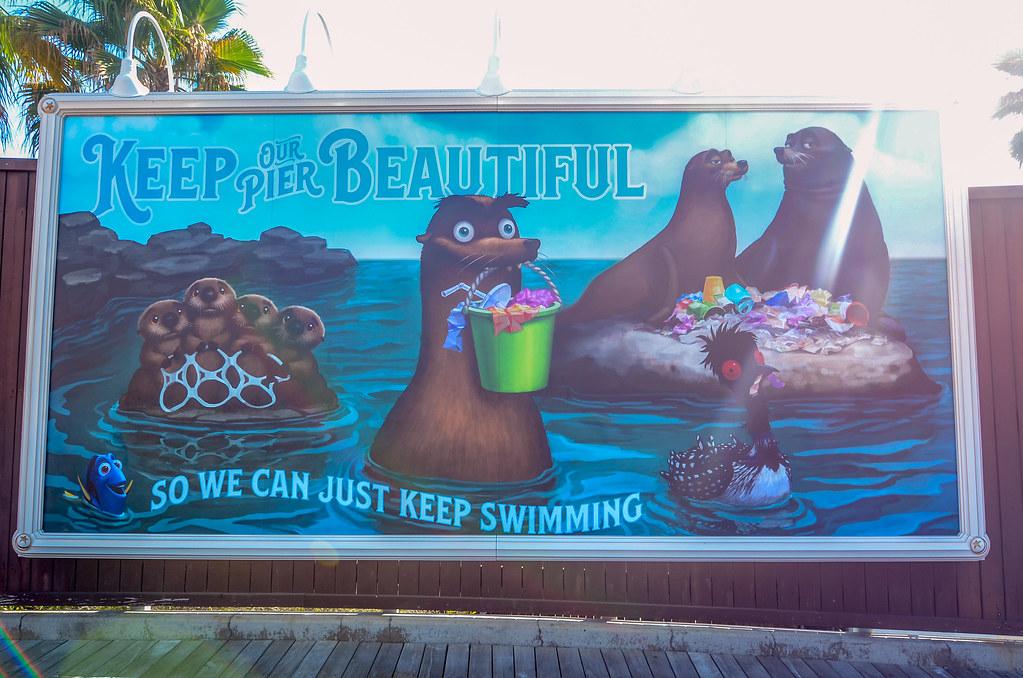 Pixar Pier Dory billboard