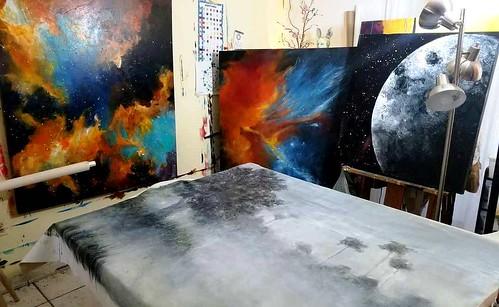 """Lillian Verkins' """"Over the Moon"""" Art Exhibit"""