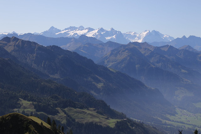 The view from the Stanserhorn, Lucerne, Switzerland.