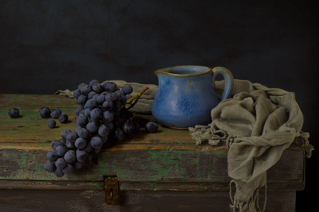 Still life with blue mug
