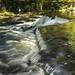 waterfall details on the Ontonagon River at Bond Falls