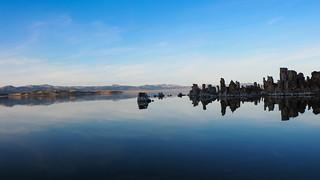 South Tufa Towers at sunset, Mono Lake, California
