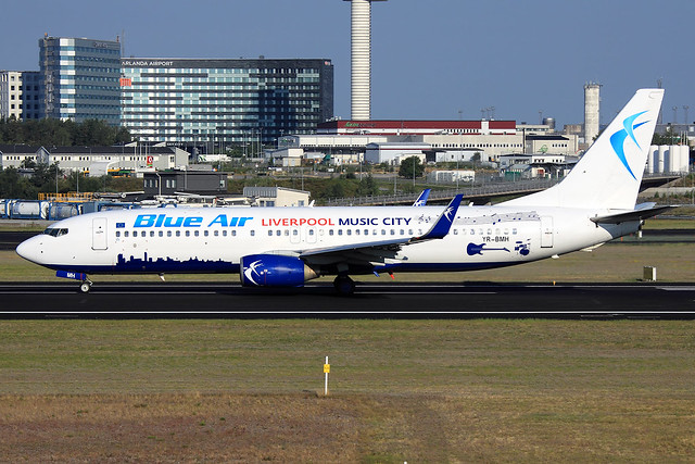 Blue Air  Boeing 737-8K5 YR-BMH