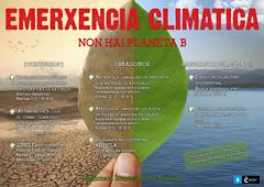 Carteis: EMERXENCIA CLIMÁTICA na Biblioteca Os Rosales: NON HAI PLANETA B