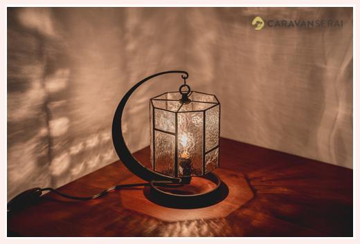 ニジイロランプ クリアーガラスのテーブルランプ