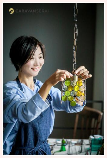 ステンドグラスランプ専門店 ニジイロ オーナー 山田貴子さん