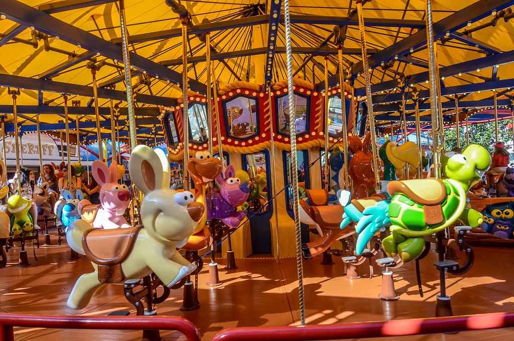 Jessies Critter Carousel DCA Pixar Pier