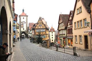 Plönlein, Rothenburg ob der Tauber, Bavaria, Germany