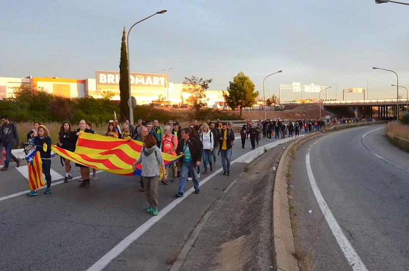 Marxa per la llibertat Sant Quirze-Barcelona