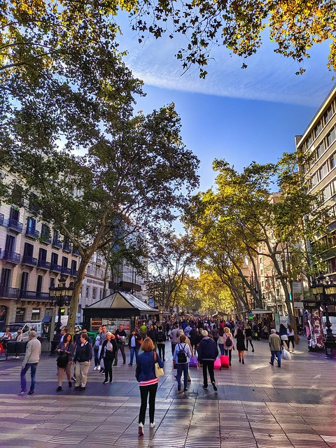 Barcelona. Las Ramblas.
