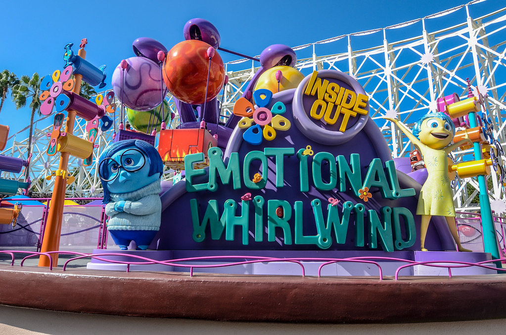 Emotional Whirlwind sign Pixar Pier DCA