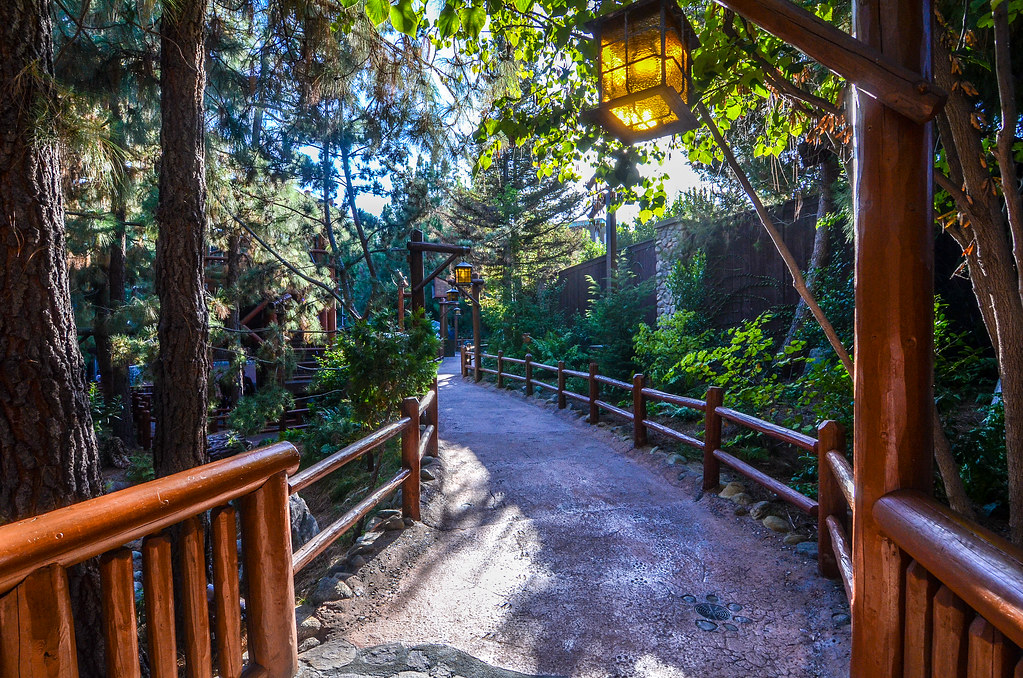 Path lights Redwood Creek Challenge Trail DCA