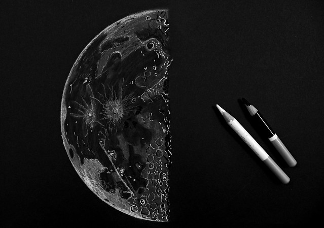 Last Quarter Moon Sketch