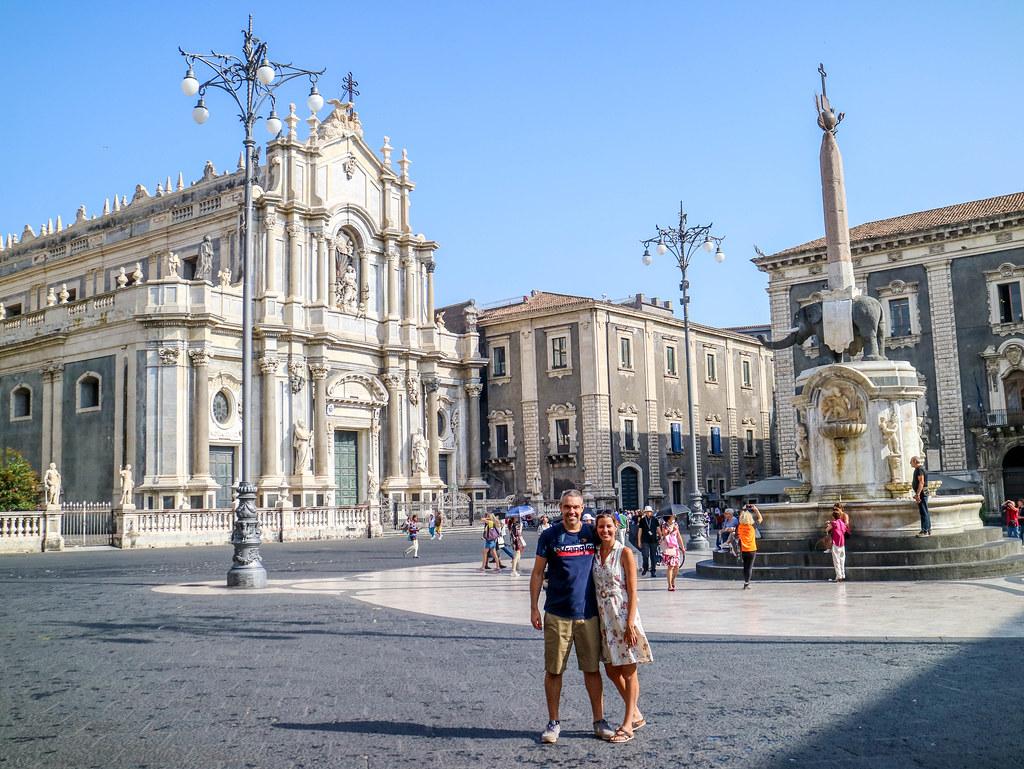 Plaza del Duomo en el centro historico