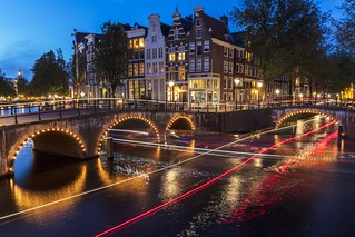 Amsterdam Canal Light Trails-1