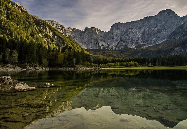 Lago Superiore di Fusine & Mount Mangart (2678 m.) Alpi Giulie, Julian Alps