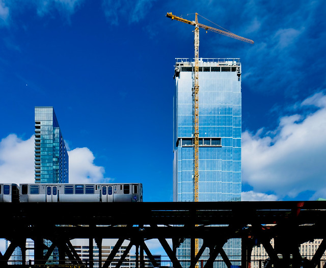 Elevated train.