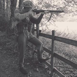 north yorkshire moors railway wartime weekend nymr 40s 1940s ww2 British soldier infantryman goathland grosmont
