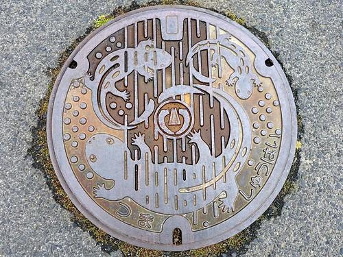 Tsuma Shimane, manhole cover 4 (島根県都万村のマンホール4)