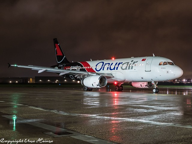 Onur Air (GGM Gastro Livery) TC-ODD HAJ at Night