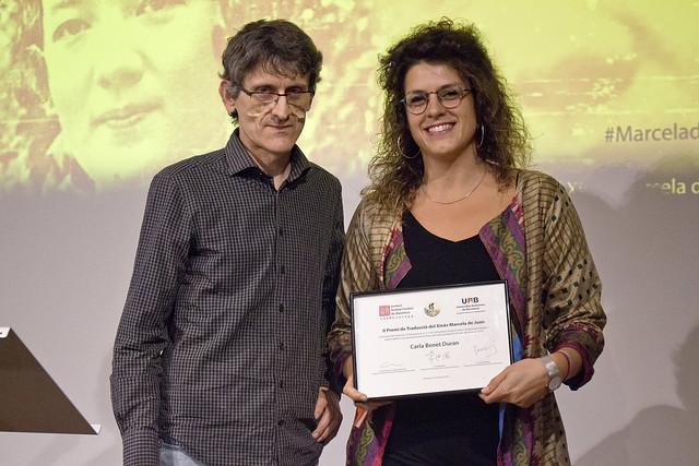 Carla Benet ganadora del Premio de Traducción Marcela de Juan