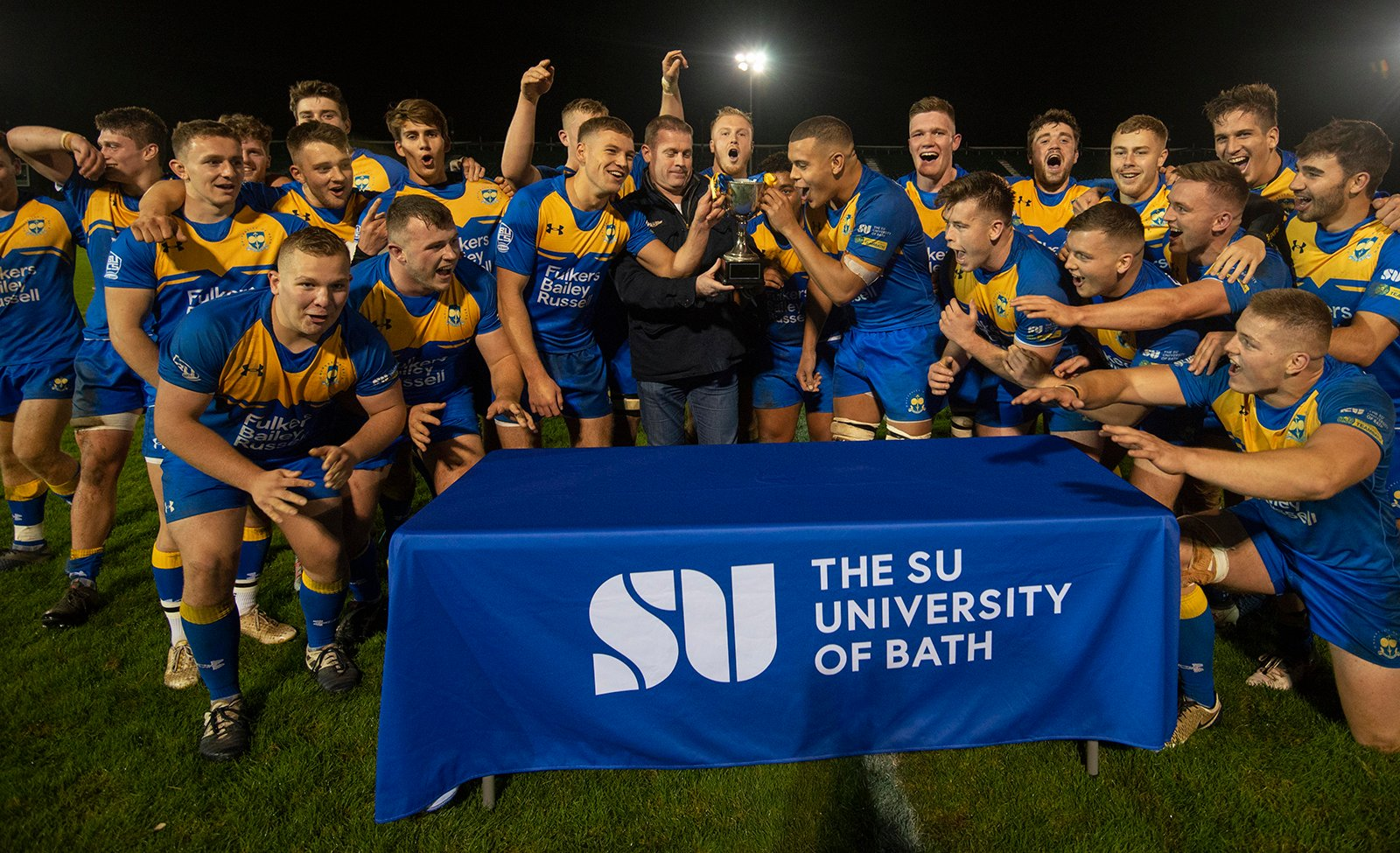 UBRFC Men's 1st XV celebrate victory at the 2019 Superleague Anniversary Match