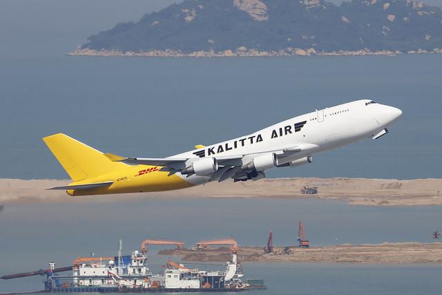 N740CK, Boeing 747-400BCF, Kalitta Air, Hong Kong