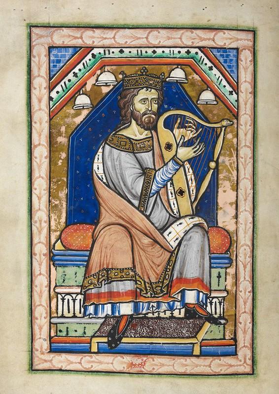 94 Давид   Вестминстерская Псалтирь. XIII в.  Англия