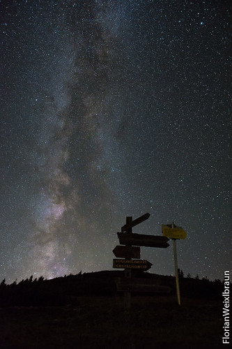 Milky Way on top of Rax plateau