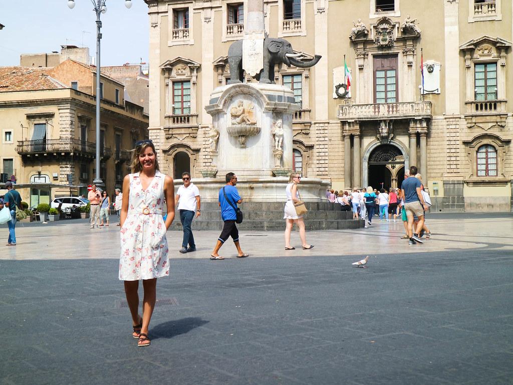 Casco historico de Catania en Sicilia
