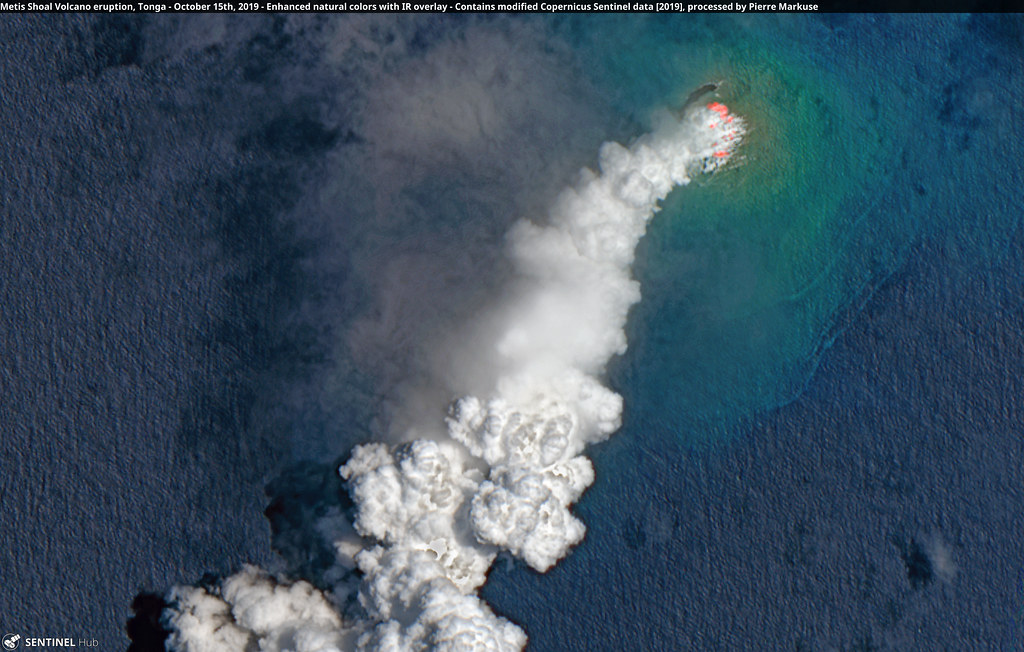 Metis Shoal Volcano eruption, Tonga - October 15th, 2019