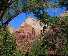 Peaks Near Visitors Center - Zion National Park, Southwestern Utah