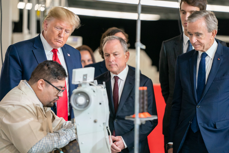 President Trump Visits the the Louis Vuitton Workshop - Rochambeau