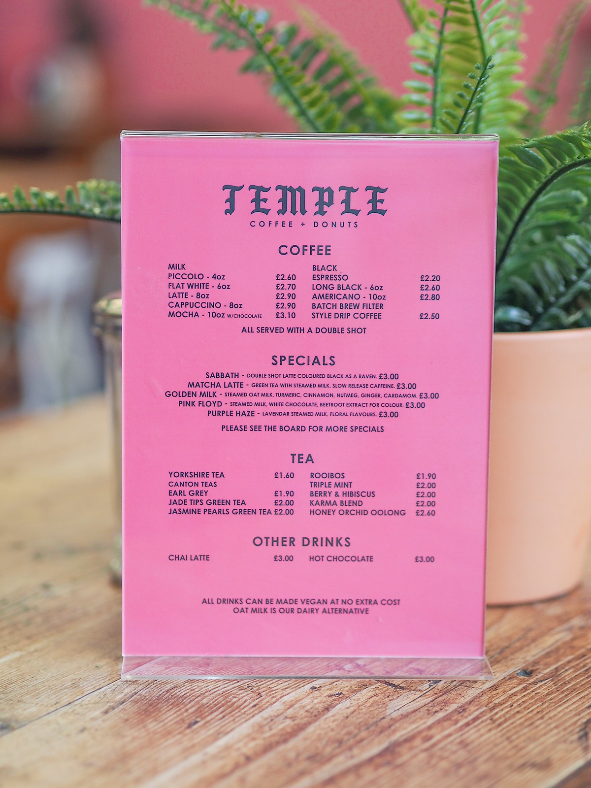 Temple coffee and Donuts Leeds