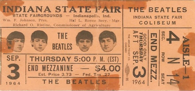 Beatles Ticket 1964