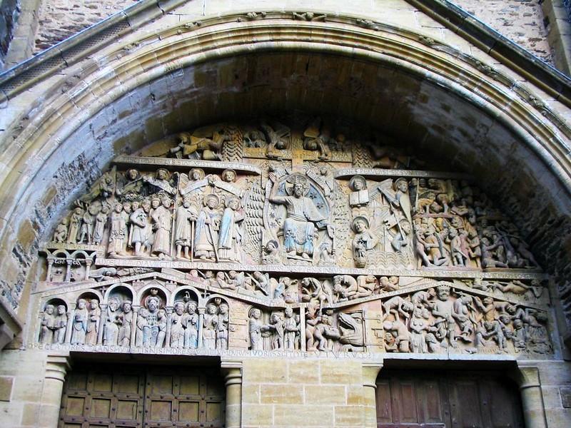 33 Аббатство Сен-Фуа в Конке. Тимпан Главного портала