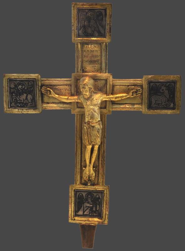 56с Крест процессионый Германия. Бад-Карлсхафен (Гессен). Аббатсво Хельмарсхаузен XII в.