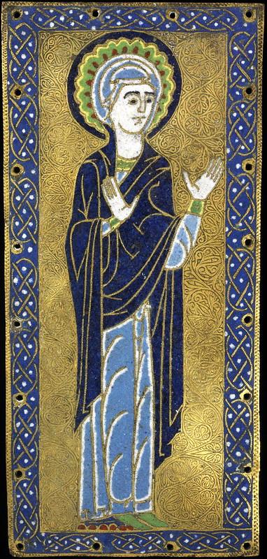 64а Богоматерь, фрагмент Распятия. 1170-90г. Франция. Лимож. XII в