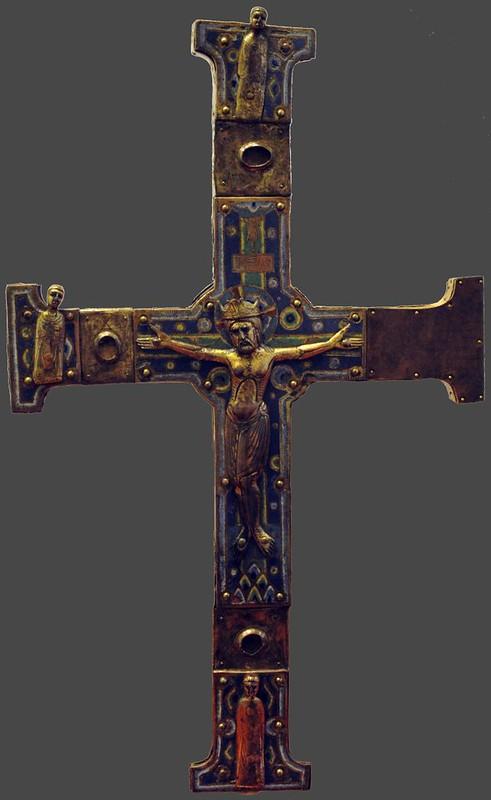 64в Распятие Христово. Крест процессиальный (выносной) Франция. Лимож; XII в