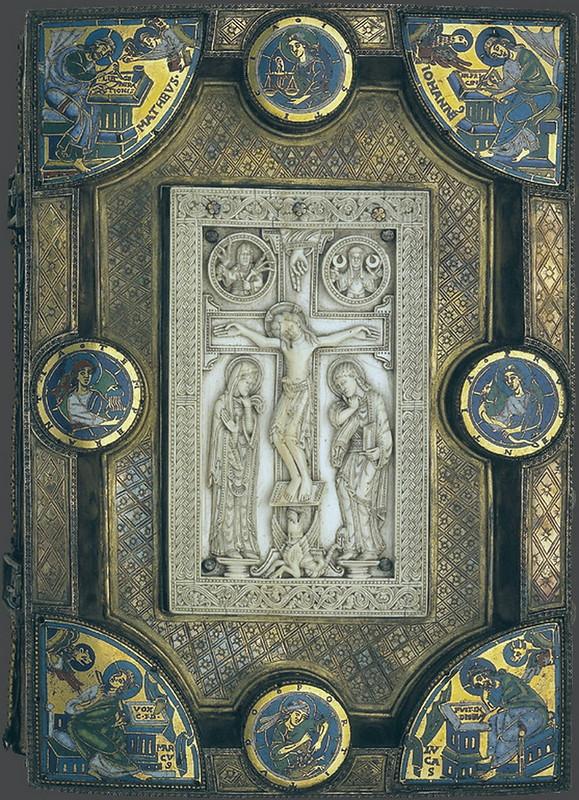 91 Оклад Евангелия с эмалями. Мец, XII в. местонахождение Германия. Дармштадт