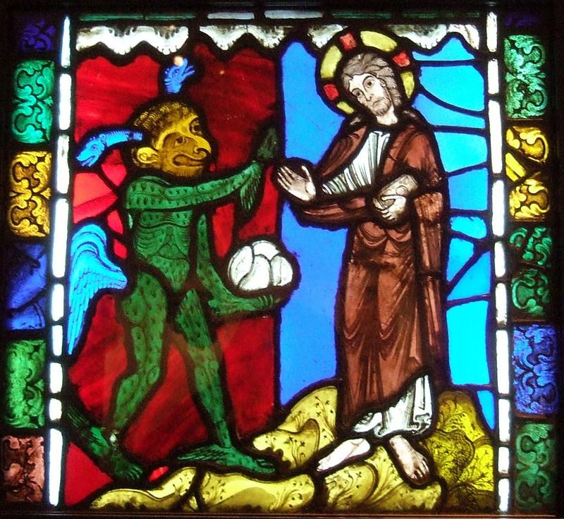 93 Первое искушение Христа. 1170 - 1180г.  Франция. Труа. Кафедральный собор.