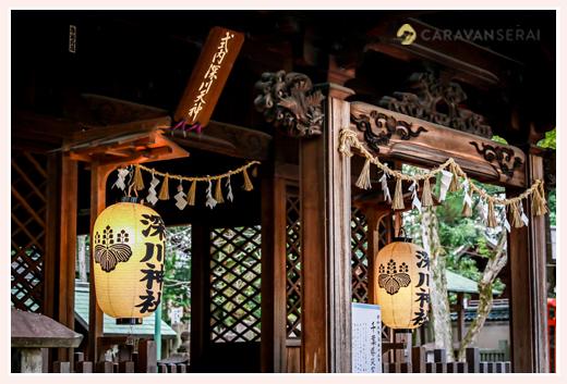 提灯に灯りが灯った深川神社(愛知県瀬戸市)