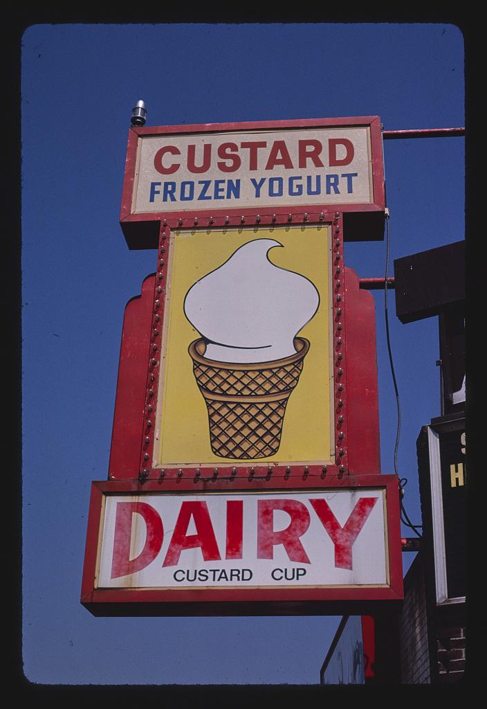 Dairy Custard Cup ice cream sign, Royal Oak, Michigan (LOC)