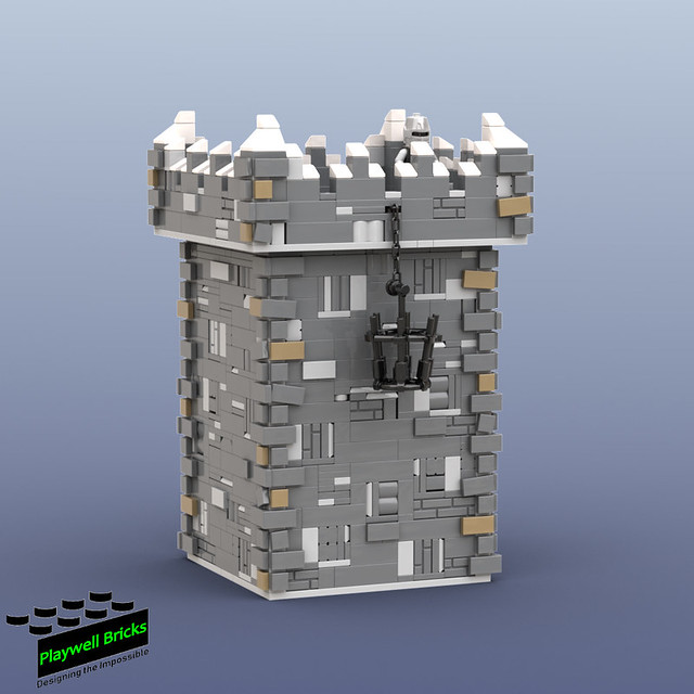 Winterfell WIP 1 - First Gatehouse Tower