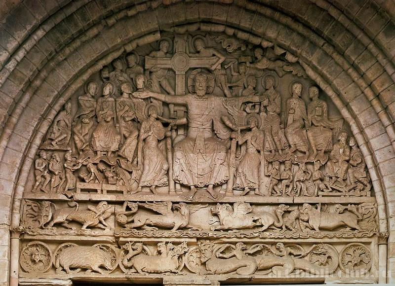 46 Тимпан церкви Сен-Пьер в Больё-сюр-Дордонь 1160