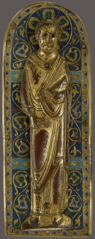 64с Ап.Петр Накладка реликвария.Франция. Лимож, XII в.