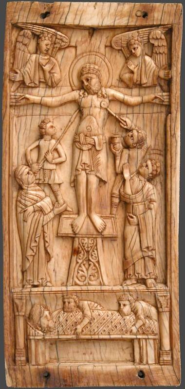 85а Распятие и погребение Христа. Центральная часть триптиха.  Юг Италии. XII в.